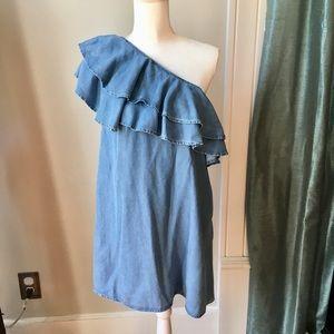 Zara chambray dress